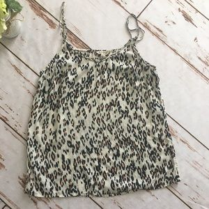 Lucky Brand Leopard loose fitting tank